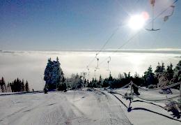 Winter im Erzgebirge - Skilift Oberwiesenthal